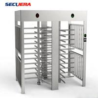 China Hotel Access Control Double Lane Full Height Turnstile With IC ID Card Reader turnstile barrier gate factory