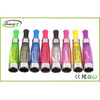 China 1.6ml 750puffs Dual Coil Ce4 Clearomizer Tank clear black For Ego Thread Batteries factory