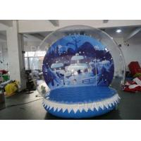 China 0.6mm PVC Tarpaulin Inflatable Christmas Snow Globes 3m Hot Air Welding factory