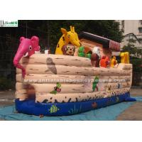 Safety Noah's Ark Paradise Inflatable Combo Bounce House For Kids
