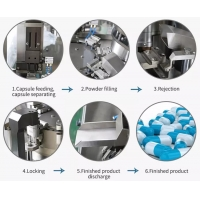 China Stainless steel Laboratory Capsule Filling Machine For Size 00-5 Empty Hard Capsule factory