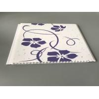 China Customized Purple Flower Pvc Decorative Panels Transfer Printing Fireproof factory