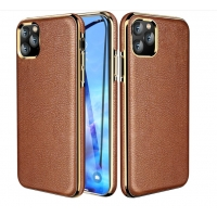 China Flip Genunine Leather 6.1 Inch Protective Iphone Cases factory