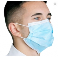 China 3 Layer Ply Nonwoven Dust-proof and Fog-proof Earloop Disposable Face Mouth Masks Fast Shipping factory