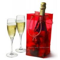 China Shiny PVC ice bag / wine cooler bags / gift bottle bag many colors selection on sale