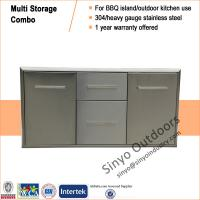 Buy cheap BBQ island component built-in stainless multi storage drawer and door combo from Wholesalers