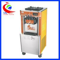 China Freestanding Soft Ice Cream Maker For Home / Three Flavor Ice Cream Making Equipment factory