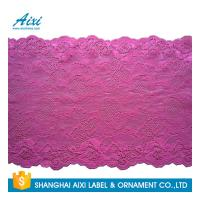 China Nylon Stretch Lace Embroidery Lingerie Lace Fabric For Underwear Dress Garments factory