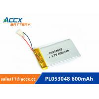 China 053048pl 503048 3.7v lithium polymer battery with 600mAh rechargeable li-ion battery for GPS, bluetooth speaker factory
