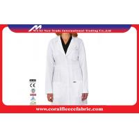 China Professtional Long-sleeve Doctors Lab Coat  , White Medical Doctor / Nurse Smock factory