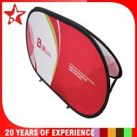 Buy cheap Oval Popup A Frame Banners Dye Sublimation Different Graphic Printing On Double Sides from Wholesalers