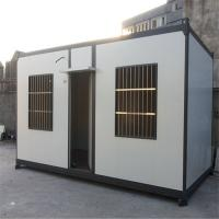 China lightweight steel structure prefab log home container house for office factory