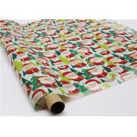 Buy cheap Gifts Paper Printed Decorative Wax Paper Santa Claus Pattern One Side Coating from Wholesalers