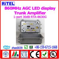 Quality CATV/MATV 860MHz 1-Port output 30dB AGC Trunk Amplifier/Line Amplifier RTA-8630G Outdoor SPS LED display for sale