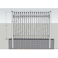 China Ornamental Picket Steel Fence Panel / Black Steel Fence / Ornamental Steel Fence on sale