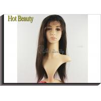 Buy cheap Straight Remy Human Hair Lace Front Wigs Adjustable Straps No Tangling from Wholesalers