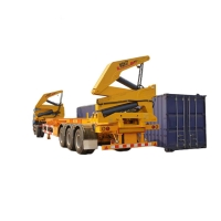 China 20 To 40ft 3 Axle 37 Ton Side Self Loading Container Trailer factory