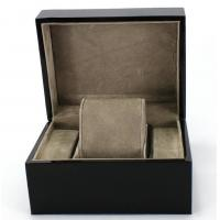 Buy cheap Piano Paint Matte MDF Wooden Jewelry Box Grey Interior With Removable Cushions from Wholesalers