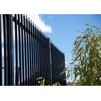 Buy cheap Pre - Galvanized Iron Spear Top Fencing Black Metal Fence Panels from Wholesalers