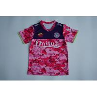 Buy cheap OEM Custom Red Camo V Neck Sports Kids T Shirt Sublimation Printing from Wholesalers