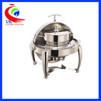 China Round Roll -Top Chafing Dish / Buffet Warming Dish Equipment 220V / 110V factory