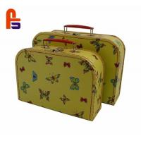 Beautiful Cardboard Suitcase Box Offset Printing With Handle And LockCardboard Storage Boxes