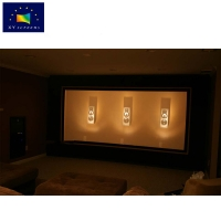 Buy cheap OEM/ODM 4K Sound Acoustically Transparent Fixed Frame Flat Surface Home cinema theater projector projection Screen from wholesalers