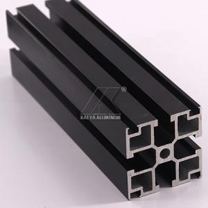 China Black Anodized Aluminium Alloy Profile 40x40mm 6000 7000 Series 5.8-5.98m Length factory