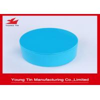 Buy cheap Empty Seamless Round Gift Tins Candy Packaging Blue Color Printed 85x36mm from Wholesalers