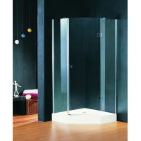 Buy cheap Pivot Open Hinged Shower Enclosures 900 X 900 mm Double wheels with Shower Tray from Wholesalers