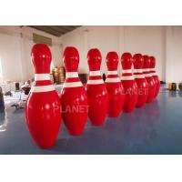 China OEM Red  2m Tall Giant Blow Up Bowling Pins For Snow Sport Game factory