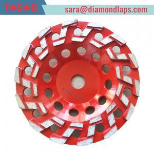 China S Type Segmented Diamond Grinding Cup Wheel Concrete Cup Diamond Wheel factory