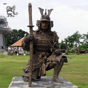 China Bronze Japanese Samurai Statue Sculpture Outdoor Large Garden Art factory
