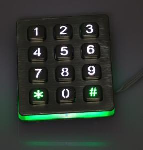 China Blue leds illuminated keyboard with 12 keys on sale