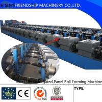 China Galvanized  Octagonal Corrugated Roll Forming Machine With Manual Uncoiler factory