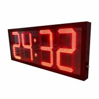 China Outdoor 1600mm *600mm * 100mm Large Digital Clock 15 Months Warranty factory