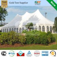 China Solid white wedding pole tent 40ft x80ft with Galvanized steel center poles and side poles with windows sidewalls on sale