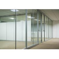 China Custom Waterproof Aluminum Glass Office Partitions With Clear / Frosted Glass factory