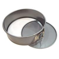 China Tart Quiche Cheese Cake Pan / Springform Baking Pan With Silver And Black Color on sale