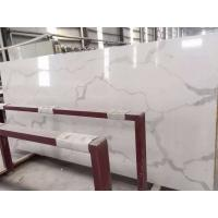 Buy cheap Wholesale Grey Veins White Calacata Quartz Stone for Kitchen Countertop from Wholesalers
