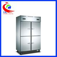 China Dual temperature display upright Refrigeration Equipment stainless steel ventilated 4 doors 220v factory