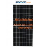 China Tempered Glass 400W 144PCS Half Cell Solar Panel on sale