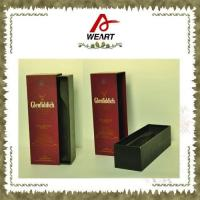 Buy cheap Luxury Black Cardboard Paper Wine Top And Bottom Rigid Gift Boxes Without Handle from Wholesalers