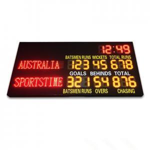 China 2 Modes Led Cricket Scoreboard , Football Score Board 1200mm X 3600mm X 100mm factory