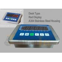 China Red LED Waterproof Floor Scale Indicator With Stainless Steel Housing factory