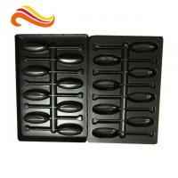 China Recyclable Electronic Component Packages Black PET/PVC/PS Large Plastic Tray on sale