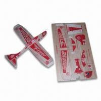 China Promotional Balsa Wooden Plane Toy, Measures 188 x 118 x 1.2mm, Customized Printings are Accepted factory
