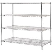 Buy cheap Stable Leveling Feet  Commercial Wire Shelving  /  Matal Silver Rack In Shopping Mall from Wholesalers