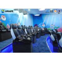 China Midsize 4D Cinema System , Black and white Glass Fiber Reinforced Motion Chairs And Black Leather factory