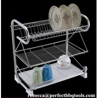 Buy cheap Stainless steel kitchen dish rack 3 layer chromed wire dish racks & drainers PT-DR001 from Wholesalers